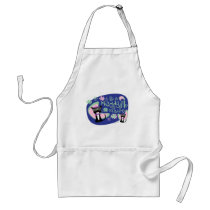 Meowsville Daddy-O Beatnik Kitty Adult Apron