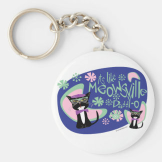 Meowsville Daddy-O Beatnik Kitty Keychain