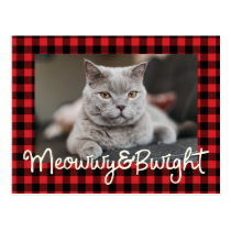 Meowwy and Bwight Funny Holiday | Photo Postcard