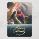 Meowy Catmas | Funny Cat Christmas Photo Card