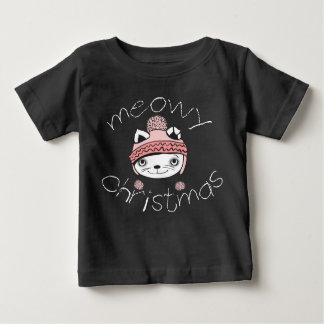 Meowy Christmas Baby Fine Jersey T-Shirt