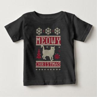 Meowy Christmas Baby T-Shirt