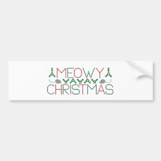 Meowy Christmas Bumper Stickers