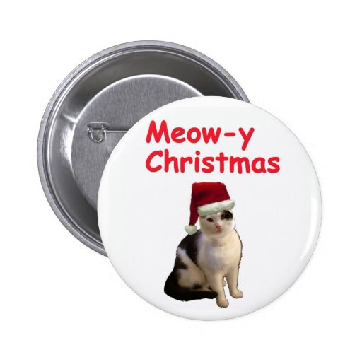 Meowy Christmas Buttons