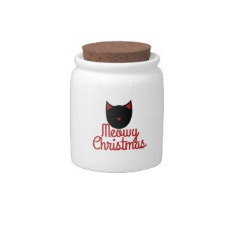 Meowy Christmas Candy Jar