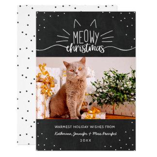 Meowy Christmas - Cat Christmas Photo Card