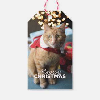 Meowy Christmas Cat Gift Tag