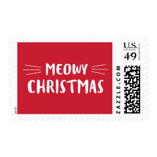Meowy Christmas | Cat Holiday Postage