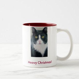 Meowy Christmas Cat Holiday Season Kitty Mug Funny