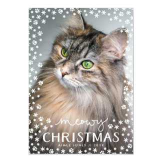 Meowy Christmas Cat Lover Holiday Photo Card
