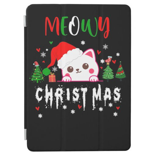 Meowy Christmas Cat Lover merry christmas kitten iPad Air Cover