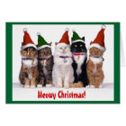 """Meowy Christmas!"" Cats Card"