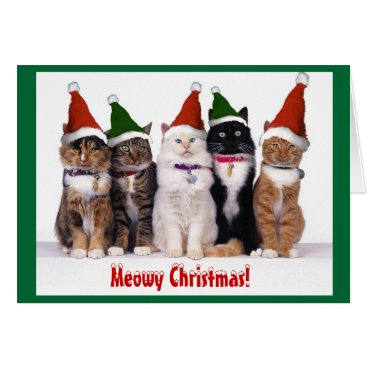 "Christmas Themed ""Meowy Christmas!"" Cats Card"