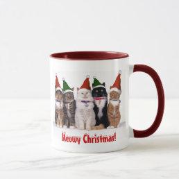 """Meowy Christmas!"" Cats In Hats Mug"