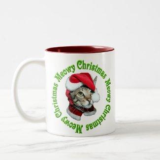 Meowy Christmas Coffee Mugs