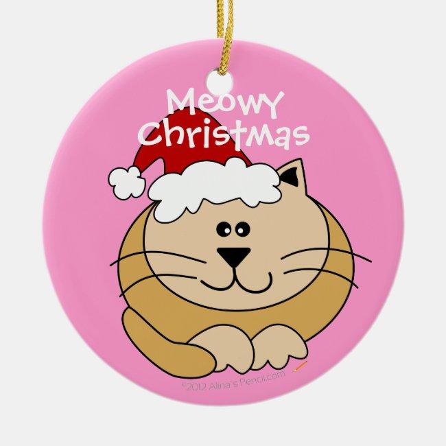 Meowy Christmas Cute Cartoon Cat Custom