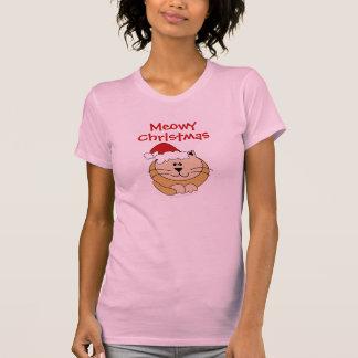 Meowy Christmas Cute Cartoon Cat Custom Tees