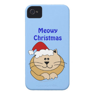 Meowy Christmas Cute Cat Custom Holiday iphone 4 Case-Mate iPhone 4 Cases