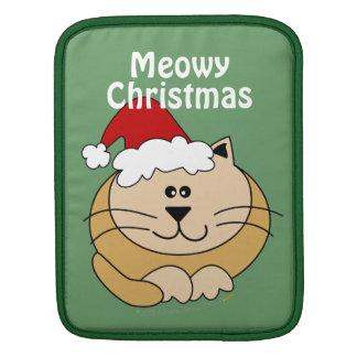 Meowy Christmas Cute Fat Cartoon Cat Custom ipad iPad Sleeve