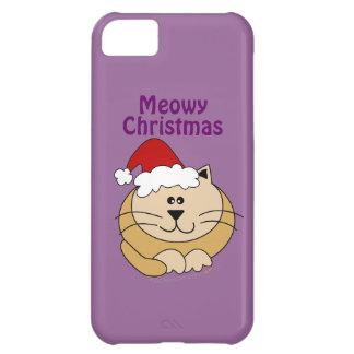 Meowy Christmas Cute Fat Cartoon Cat iphone 5 iPhone 5C Case