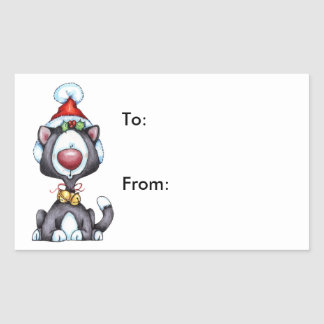 Meowy Christmas - Gift Tags