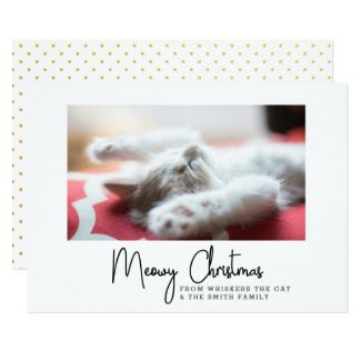 Meowy Christmas Greetings from Your Pet Cat Card