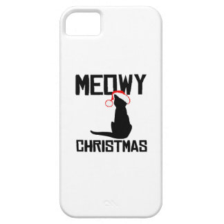 Meowy Christmas - Holiday Humor iPhone 5 Case