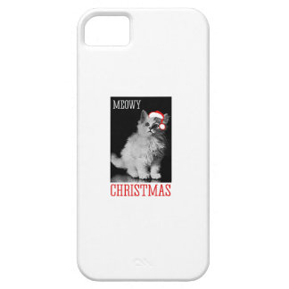 Meowy Christmas - - Holiday Humor iPhone 5 Case