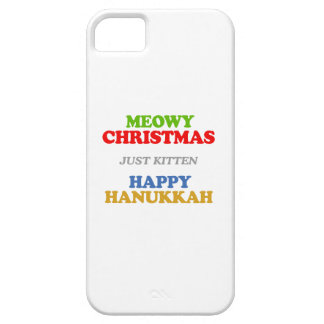 Meowy Christmas -- Holiday Humor iPhone 5 Cover