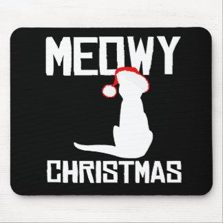 Meowy Christmas - Holiday Humor -.png Mouse Pad