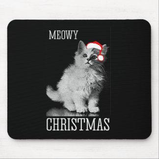 Meowy Christmas - - Holiday Humor -.png Mouse Pad