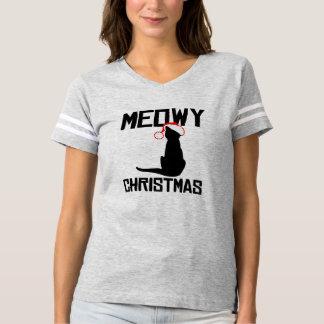 Meowy Christmas - Holiday Humor -.png T-shirt