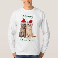 Meowy Christmas Kitten Mens Shirt