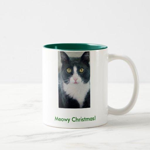 Meowy Christmas! Kitty Holiday Mug Funny Cat
