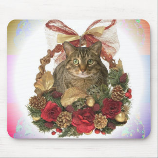 Meowy Christmas! Mouse Pad