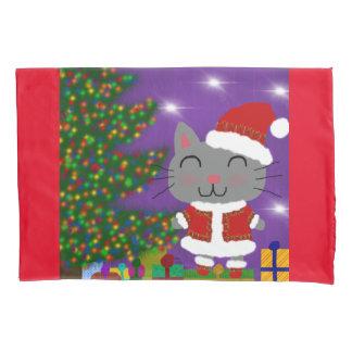 Meowy Christmas Pillowcase