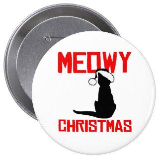 Meowy Christmas - Pinback Button