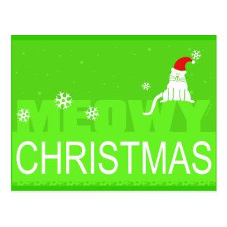 Meowy Christmas! Postcard