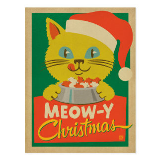Meowy Christmas Postcard