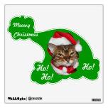 Meowy Christmas Santa Bengal Cat Wall Decor