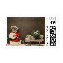 Meowy Christmas Stamp