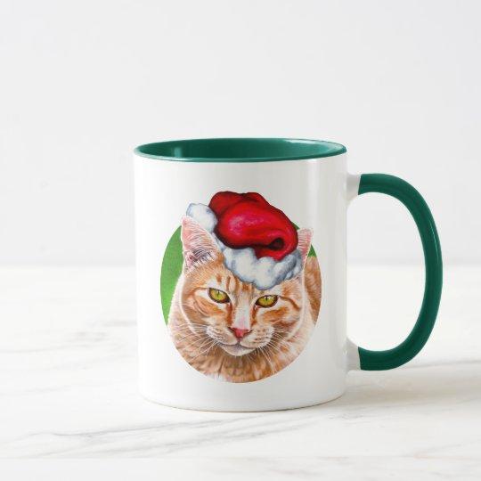 Meowy Christmas Tabby Mug