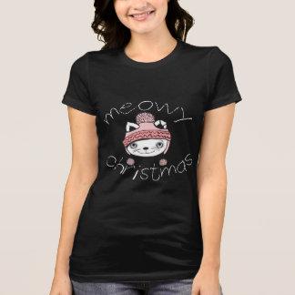 Meowy Christmas Women's Jersey T-Shirt