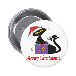 Meowy Christmouse 2 Inch Round Button