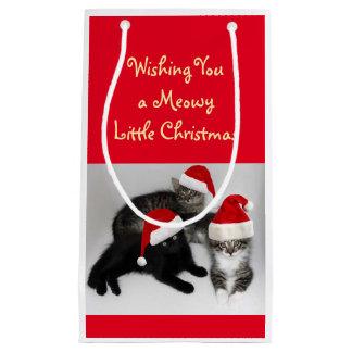 Meowy Little Christmas Gift Bag