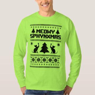Meowy Sphynxmas T-Shirt