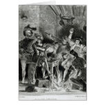 Mephistopheles and the Drinking Companions Greeting Card