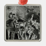 Mephistopheles and the Drinking Companions Metal Ornament