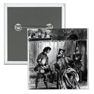 Mephistopheles and the Pupil 2 Inch Square Button