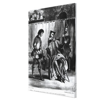 Mephistopheles and the Pupil Stretched Canvas Prints